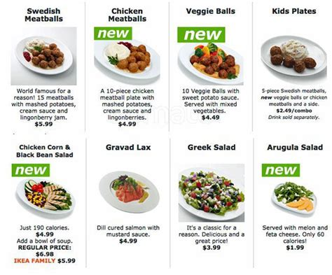 Menu Ikea ikea restaurant bistro swedish food market menu