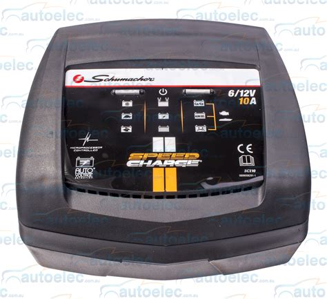 schumacher battery chargers australia schumacher 2 6 10 smart battery charger agm cycle