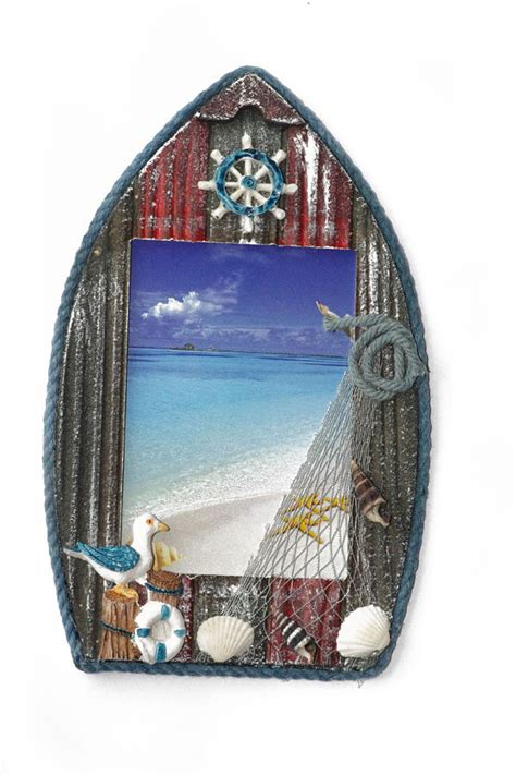 themed photo frames boat shaped picture frame sea shore theme photo frame