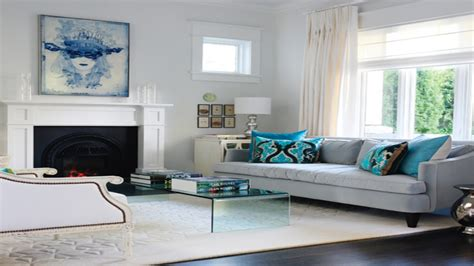 grey and turquoise living room home design
