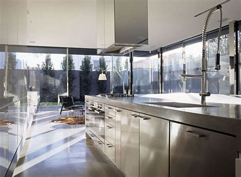 Commercial Stainless Steel Kitchen Cabinets by Modern Kitchen Interior Designs Contemporary Kitchen Design