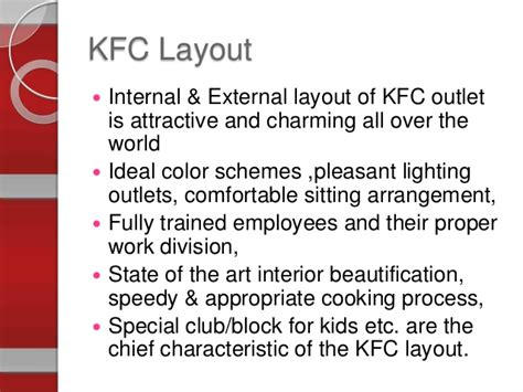 product layout of kfc operation management presentation