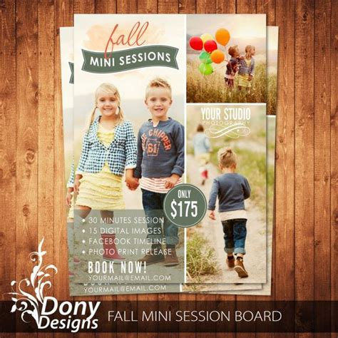 buy 1 get 1 free fall mini session photography marketing