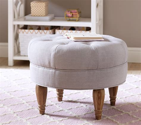 pottery barn tufted ottoman pint sized furniture that s high on style project nursery