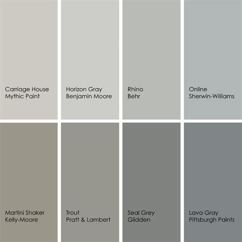 grey color shades best gray paint colors designers use most beautiful