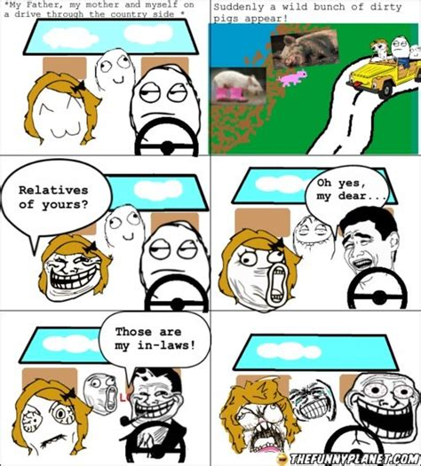 Dad Comic Meme - troll dad having fun with mom thefunnyplanet funny