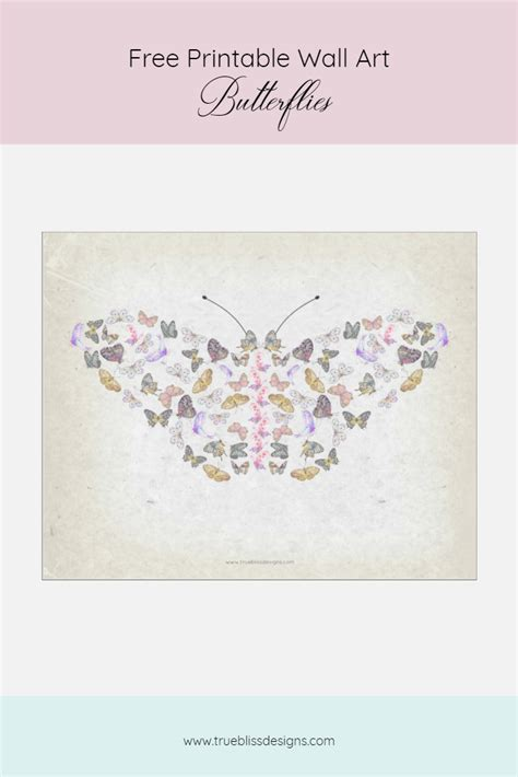 free printable butterfly wall art free butterflies printable wall art true bliss designs