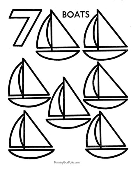 Preschool Color By Number Coloring Pages Preschool Number Coloring Pages