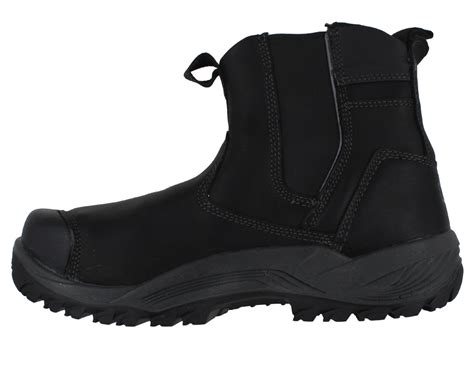 Caterpillar Leather Boots Safety Toe Black caterpillar propane mens s3 steel toe dealer pull on safety work boots ebay
