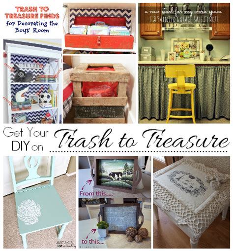 trash to treasure ideas home decor get your diy on march trash to treasure confessions of