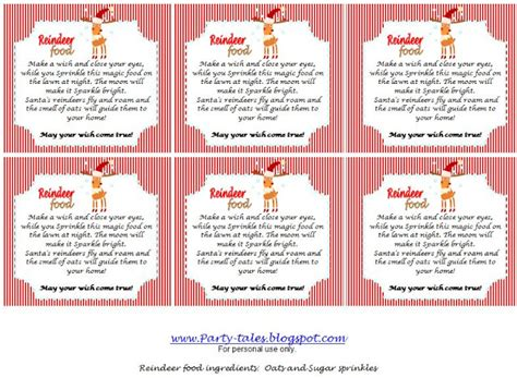 printable tags for reindeer food search results for reindeer dust poem template