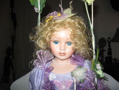 porcelain doll on swing free beautiful large porcelain doll on swing