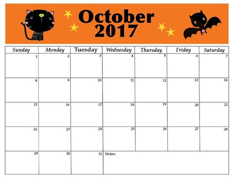 Calendar 2017 October Events October 2017 Singapore Calendar Printable Template With