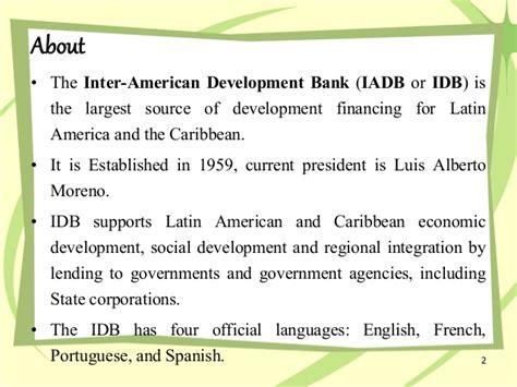 inter american bank of development inter american development bank