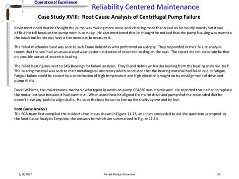 Mechanical Failure Analysis Report Template Reliability Centered Maintenance