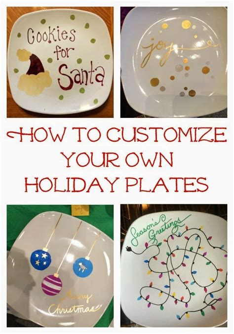 easy diy holiday craft make some sharpie holiday plates
