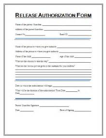Information Release Form Template by Printable Release Authorization Forms Free Word S Templates