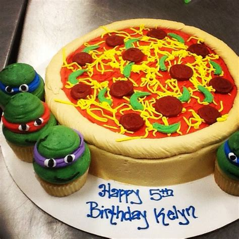 pizza cake images turtle pizza cake