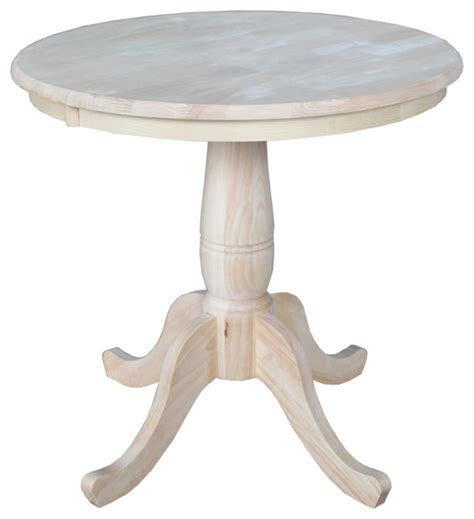 30 inch kitchen table unfinished 30 inch pedestal table contemporary