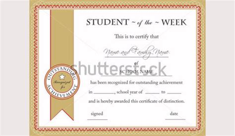 student of the week certificate template 77 creative custom certificate design templates free