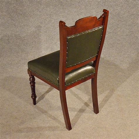 Leather Upholstered Dining Chairs Antique Leather Upholstered Dining Chairs Quality Antiques Atlas