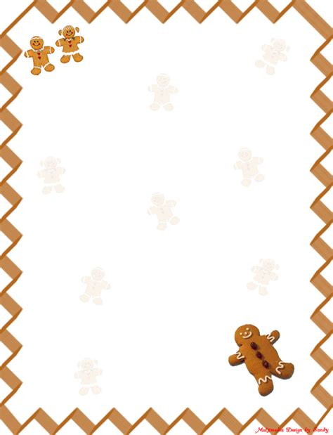 free printable gingerbread man border gingerbread man 1 stationery a photo on flickriver