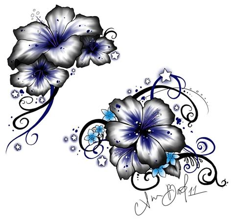 tribal hibiscus flower tattoo designs 15 hawaiian flower designs