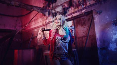 wallpaper engine joker suicide squad harley quinn cosplay costume wallpaper 12524