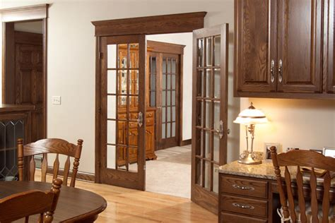 french doors dining room red oak 15 lite tdl french door