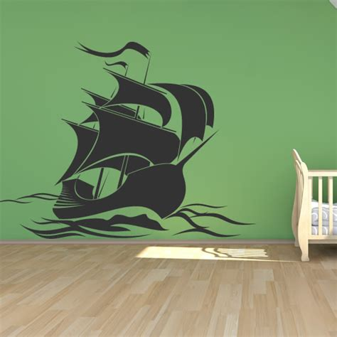pirate ship wall stickers pirate ship wall sticker wall decal transfers ebay
