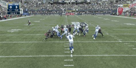 seattle d blocks punt, runs it back for td against cowboys