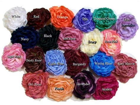 peony color peony color chart style