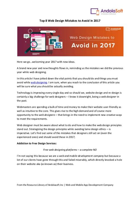 tips to avoid the 8 top mistakes when buying a house top 8 web design mistakes to avoid in 2017