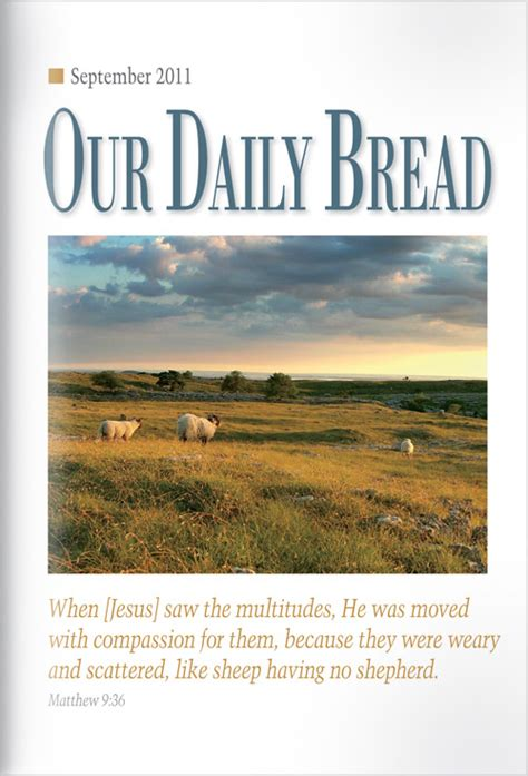 Our Daily Bread a firm foundation our daily bread