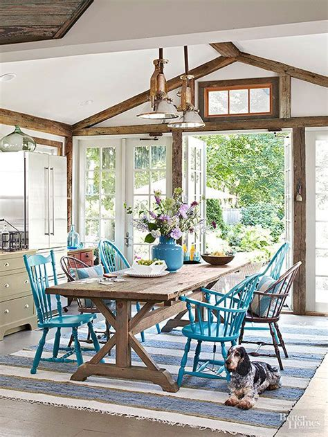 Casual Dining Room Looks Painted Chairs Farms And Tables On