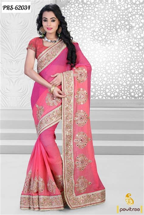 New Style new style wear georgette saree in wholesale