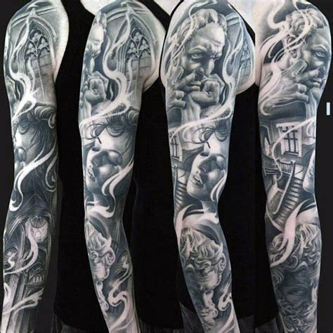 portrait sleeve tattoo designs portrait unique mens sleeve ideas