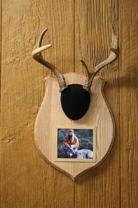 photo plaque for antler mount