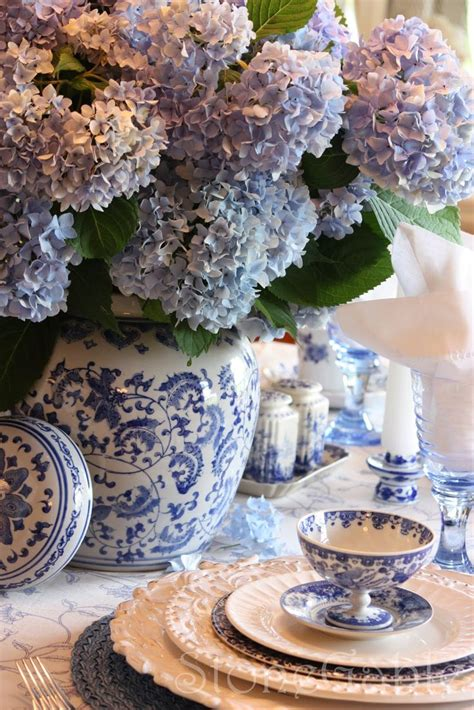 table scapes blue and white spring tablescape party decorations
