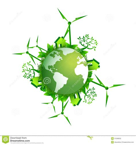 Energy Saving House Plans save the earth ecology concept illustration stock