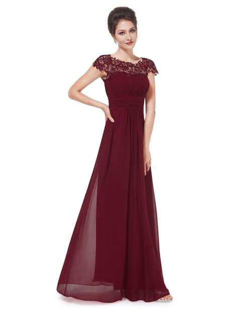 Maxi Vera Maroon burgundy wine lace bridesmaid evening dress uk boutique uk