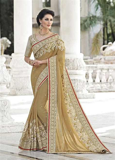 indian fashion salwar kameez saree sari sarees saris 2016 latest indian saris online shopping beige latest