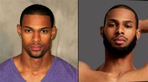 black men fake beards in disasterous makeover top model gives guy lace front