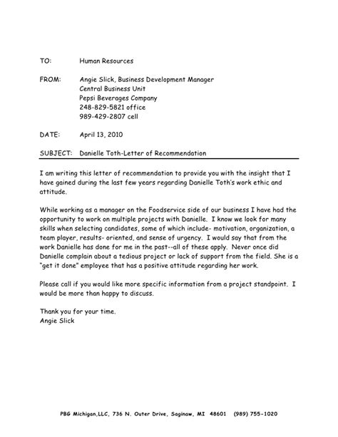 Recommendation Letter For And Development Letter Of Recommendation From Angie Slick