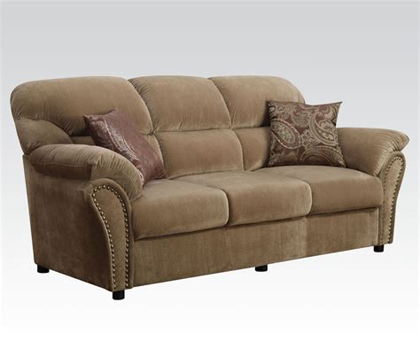 brown velvet sofa patricia light brown velvet sofa with pillows