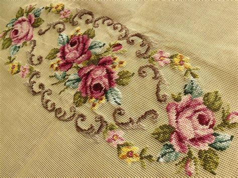 needlepoint piano bench cover large 40x23 quot preworked needlepoint canvas piano shabby