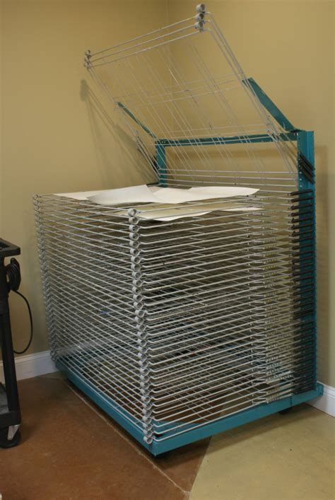 Silk Screen Drying Rack by Facilities Blue Fig Editions