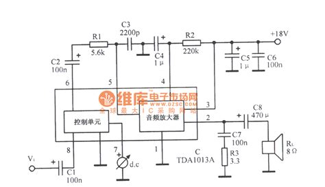 integrated lifier schematic tdal013a audio lifier integrated circuit diagram audio circuit circuit diagram seekic