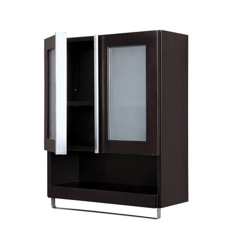 Espresso Bathroom Cabinet Shop Decolav Tyson 22 In W X 26 In H X 8 88 In D Espresso Bathroom Wall Cabinet At Lowes