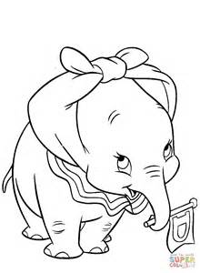 dumbo coloring pages dumbo with ears knotted coloring page free printable